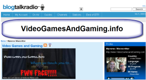 Blog Talk Radio Video Games and Gaming