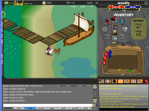 Ogre Island Fishing with Woodly